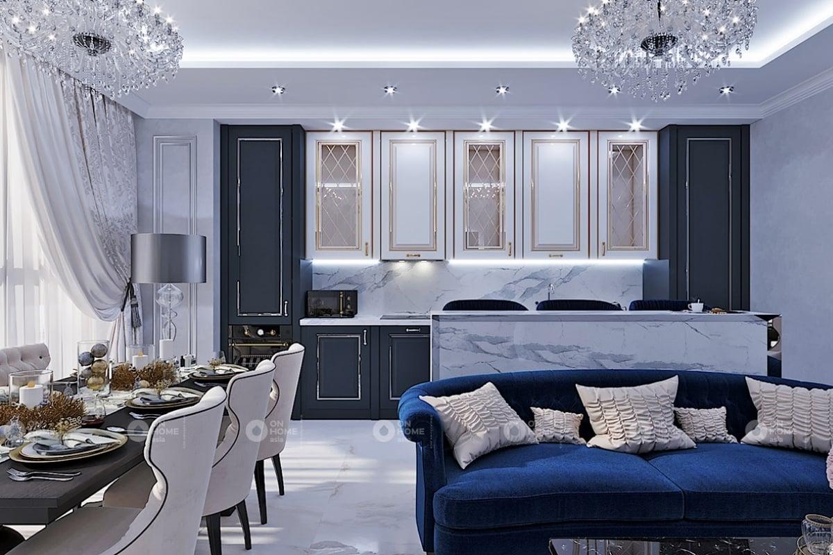 Phòng khách chung cư 3 phòng ngủ