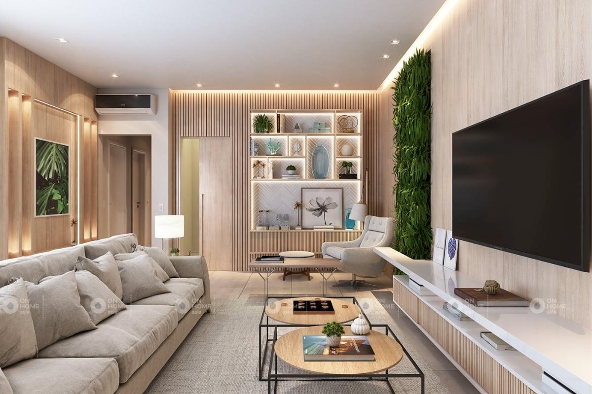 Mẫu phòng khách chung cư hiện đại