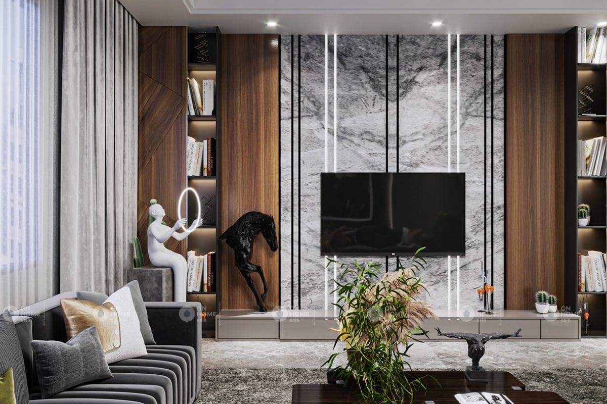 Trang trí nội thất đẹp với gam màu trầm ấm