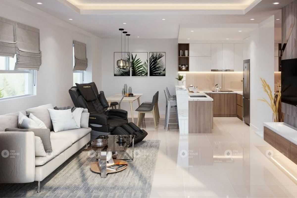 Thiết kế phòng khách căn hộ The View 1 phòng ngủ