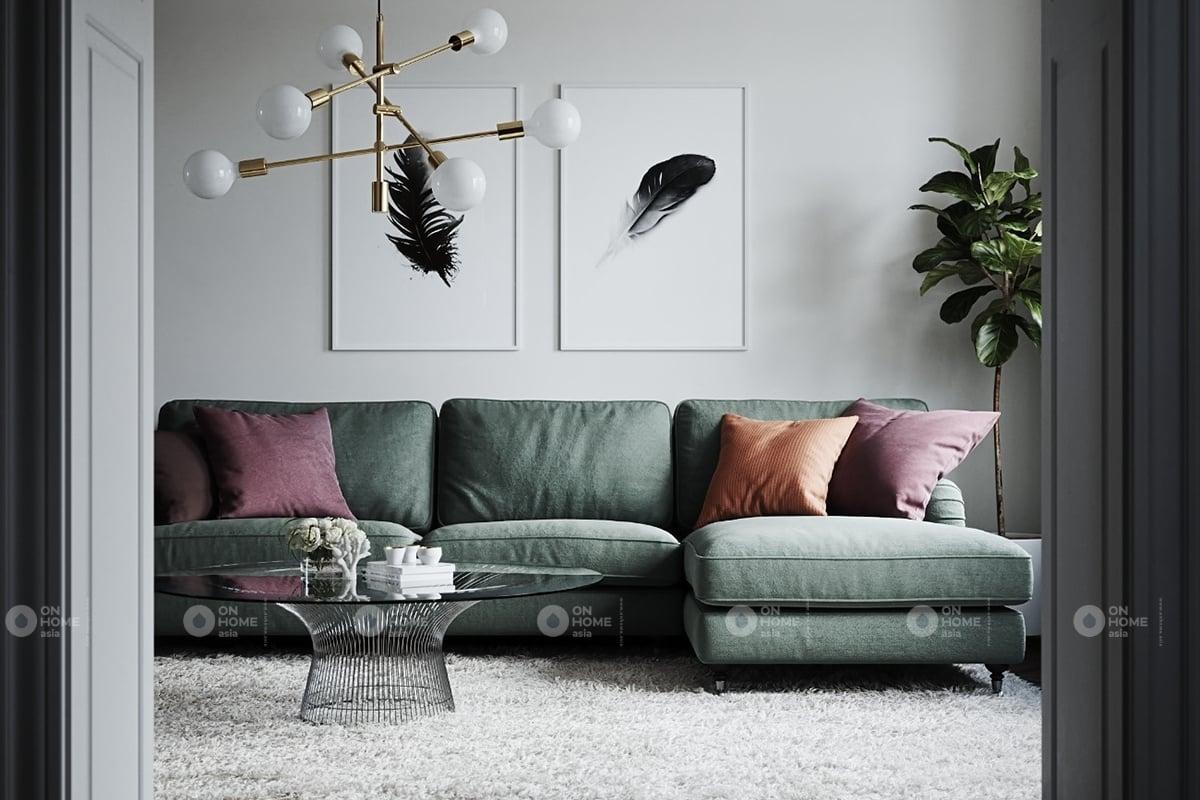 Thiết kế nội thất phòng khách đơn giản