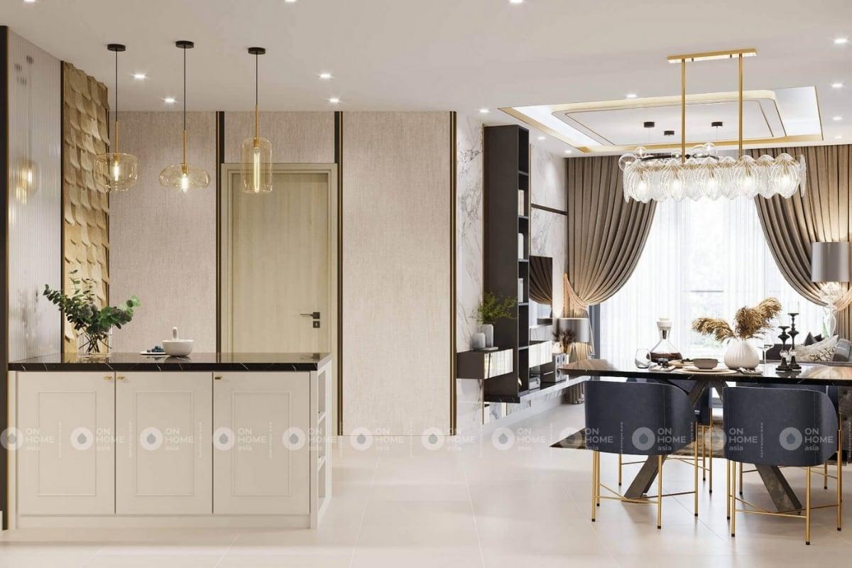 Thiết kế phòng khách căn hộ Compass One