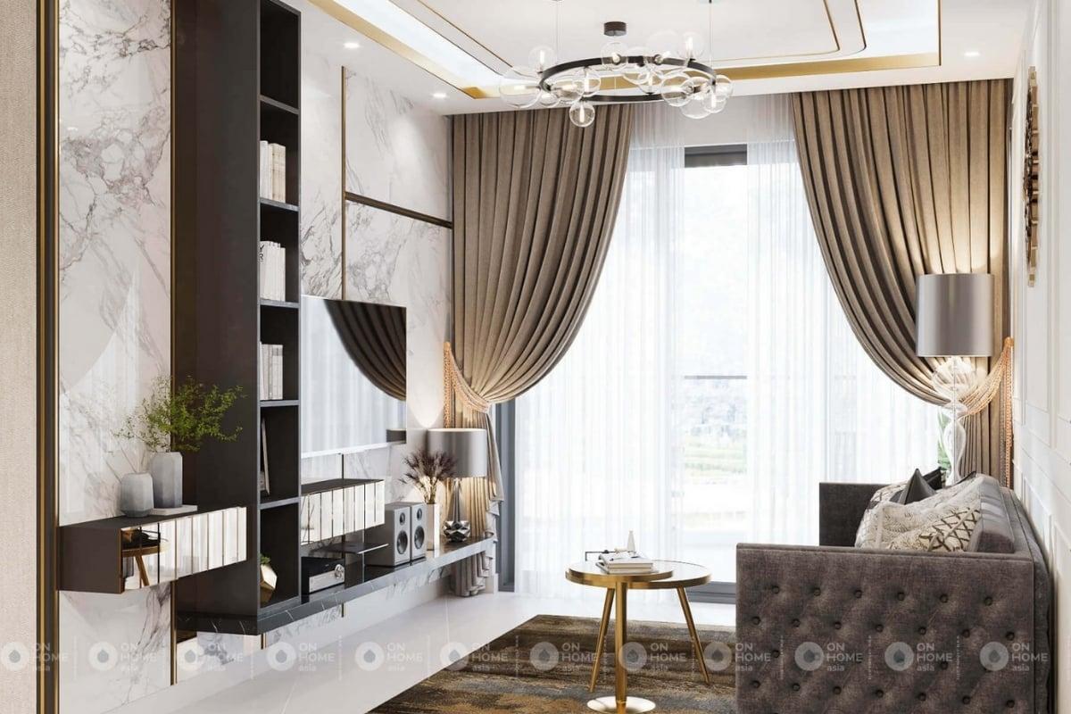 Phòng khách căn hộ sang trọng