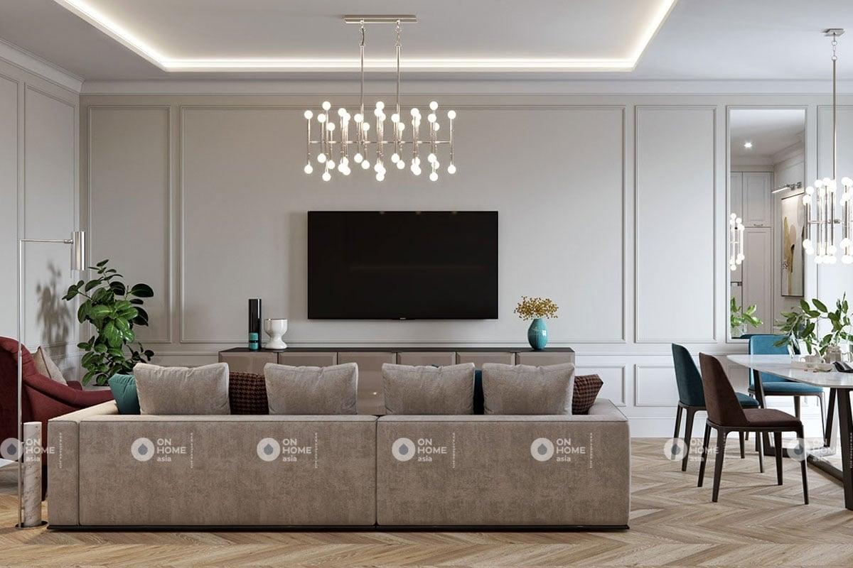 Một góc nội thất phòng khách chung cư