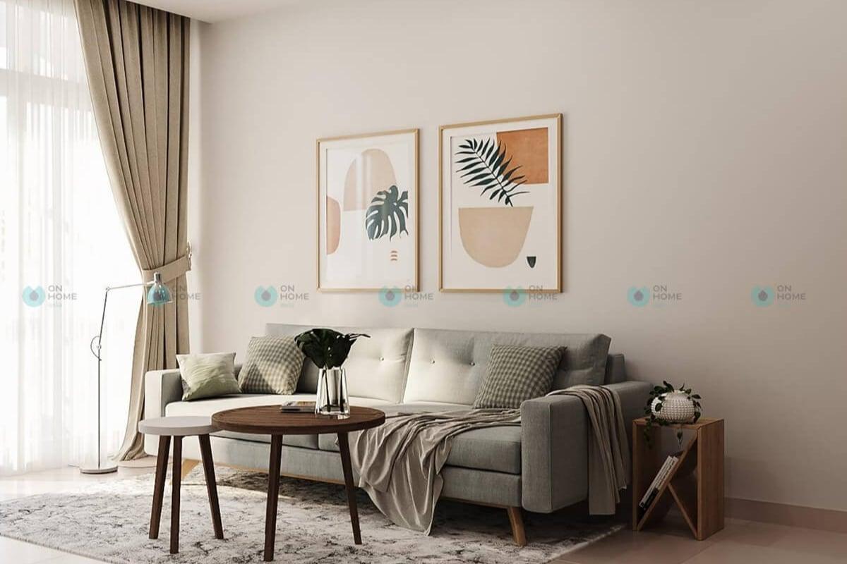 Nội thất phòng khách căn hộ Compass One
