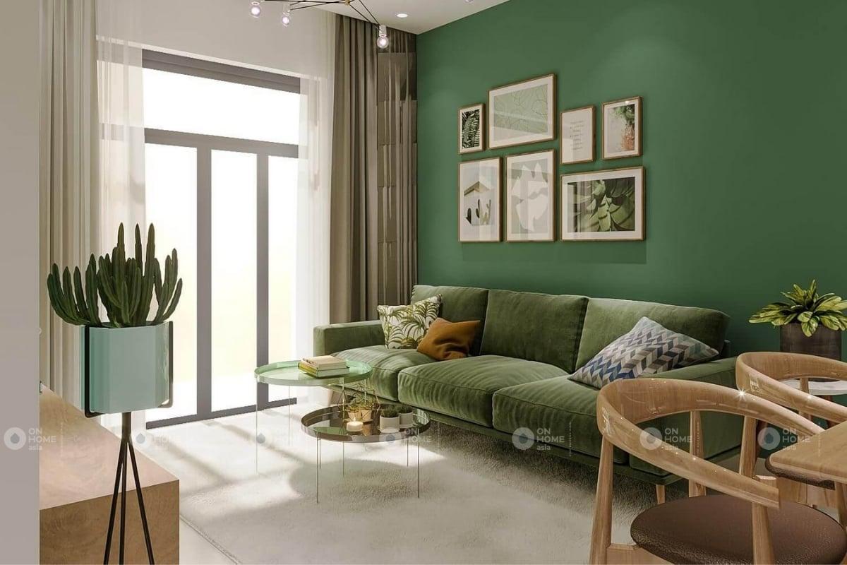 Một góc sofa phòng khách chung cư