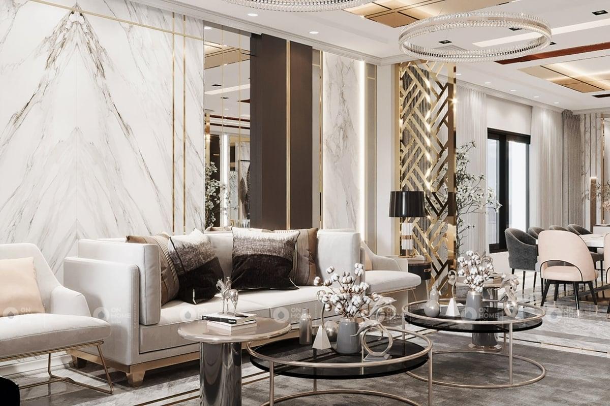 Thiết kế phòng khách chung cư với những đường nét đầu tinh tế