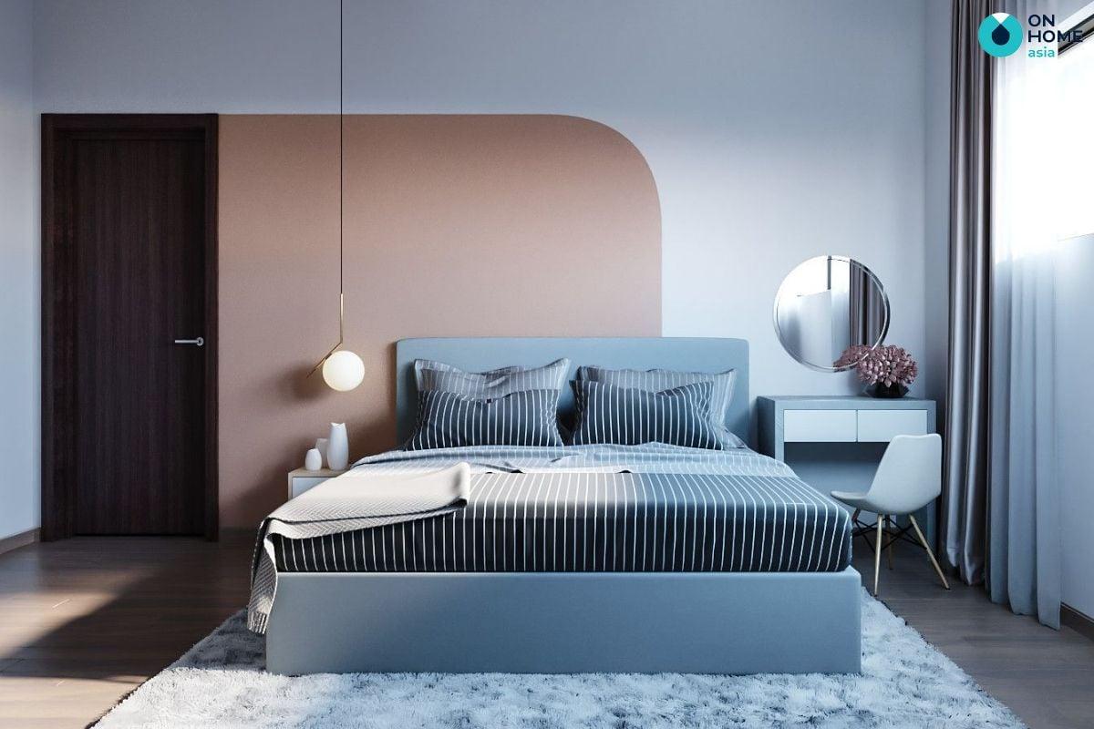 Mẫu phòng ngủ 13m2 phong cách hiện đại của anh Minh Tân tại chung cư The Habitat