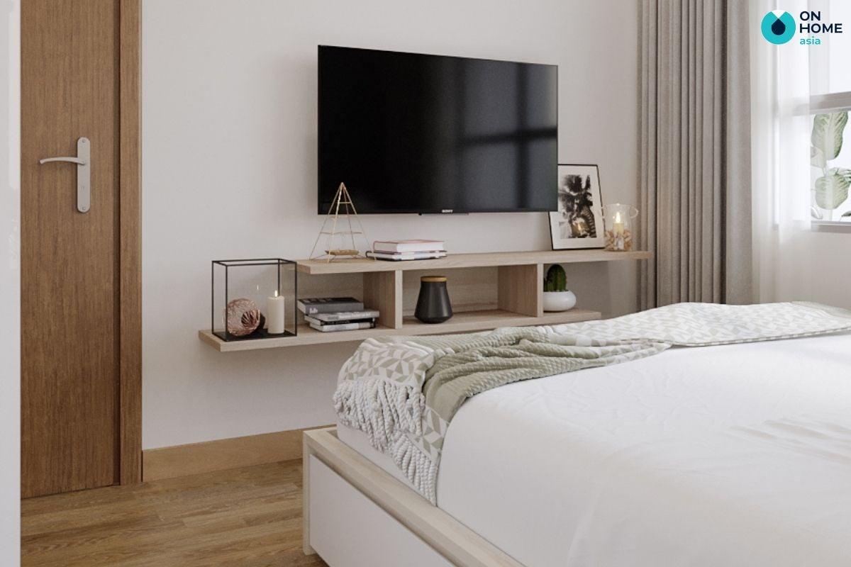 Mẫu nội thất phòng ngủ gỗ công nghiệp 18m2 tại căn hộ The View của anh Hải Triều