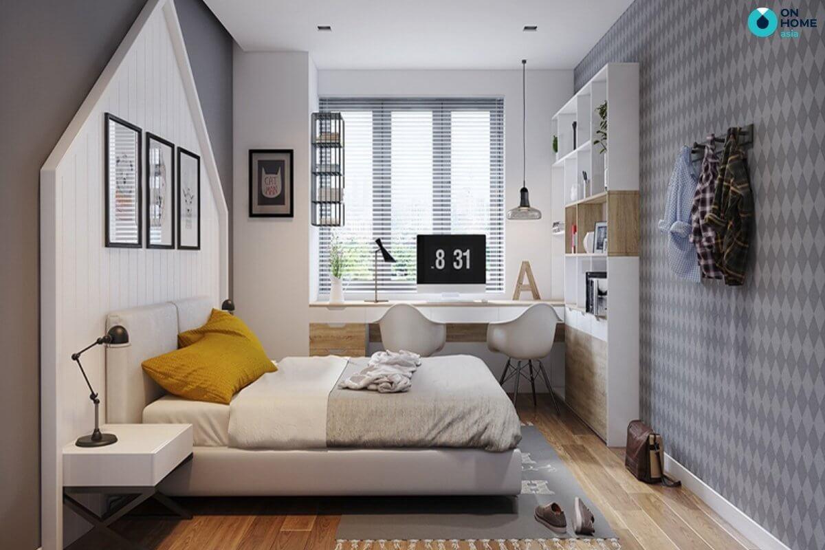 phòng ngủ 20m2 hiện đại