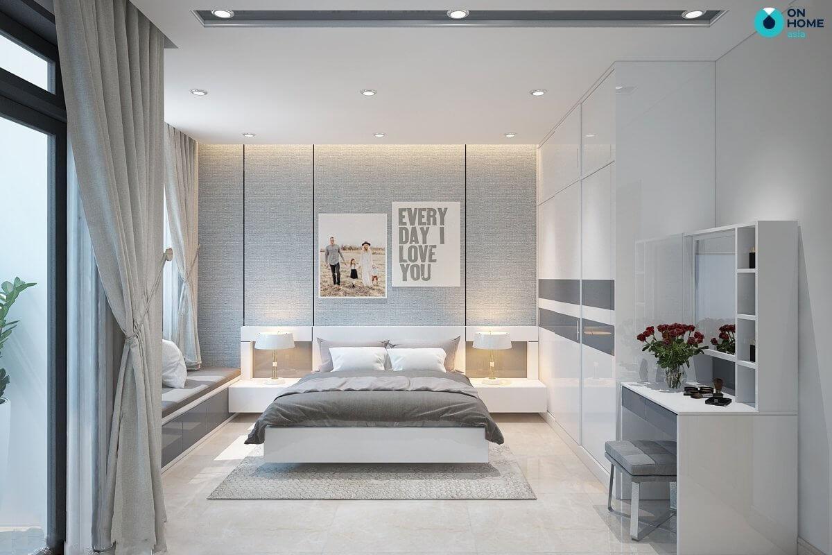 phòng ngủ 20m2 sang trọng hiện đại