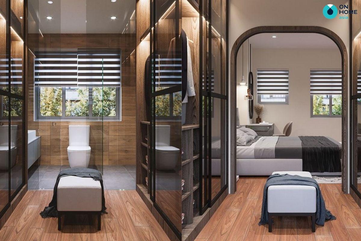 Mẫu phòng ngủ 30m2 cực kỳ sang trọng của chị Thanh Thúy tại nhà phố Sun Casa