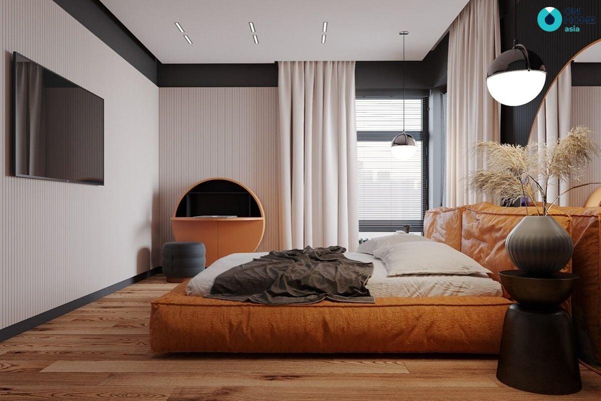 Mẫu phòng ngủ hiện đại giá rẻ 9m2 tại The View của chị Hoài Dung