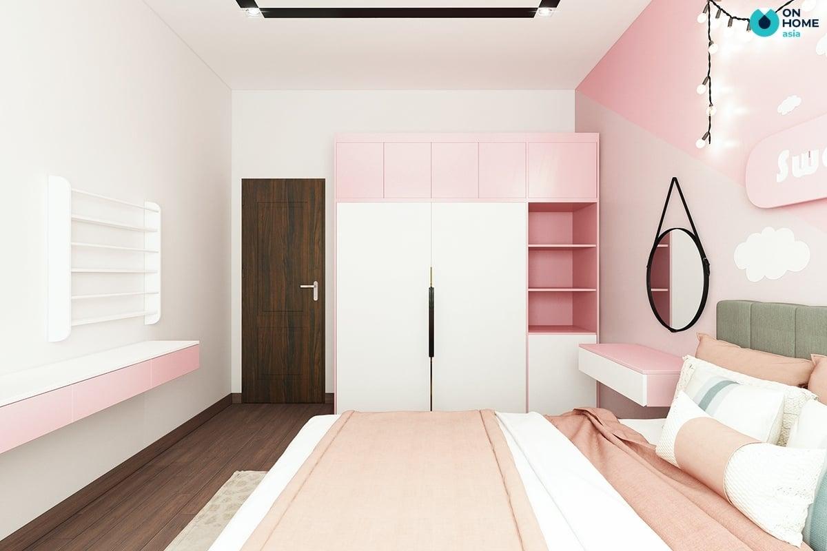 phòng ngủ với nội thất đầy đủ và tiện nghi