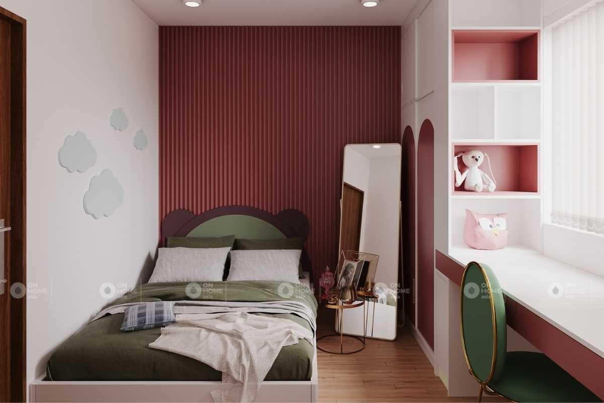 Nội thất chung cư Eco Xuân Lái Thiêu căn 3 phòng ngủ