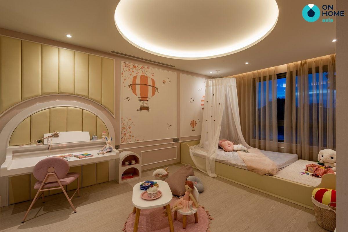 Nội thất phòng ngủ bé gái nhà phố The Standard 3 tầng
