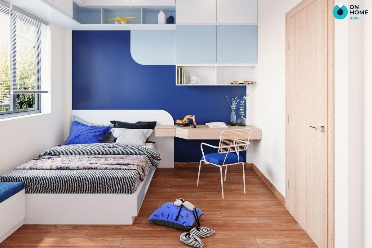 Không gian phòng ngủ 15m2 dành cho bé trai sáng tạo