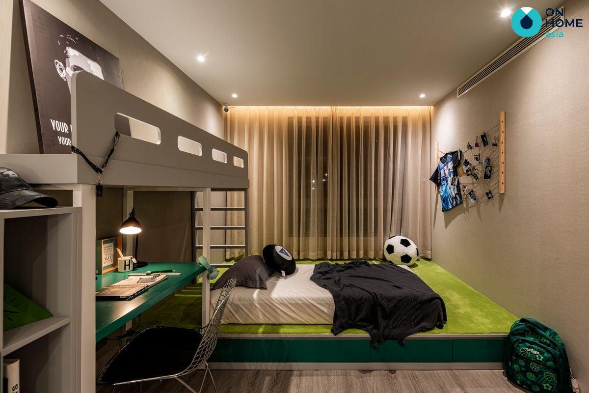 Nội thất phòng ngủ bé trai nhà phố The Standard 3 tầng