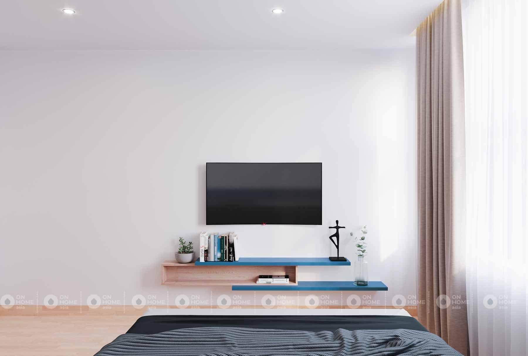 nội thất phòng ngủ căn hộ compass one
