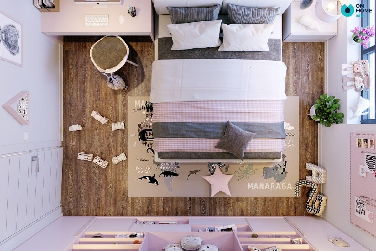 phòng ngủ cho con gái dễ thương