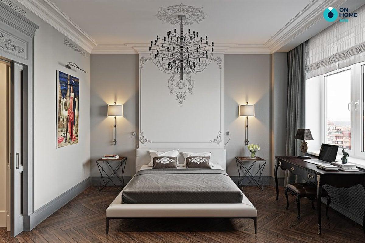 Phòng ngủ chung cư phong cách nội thất tân cổ điển