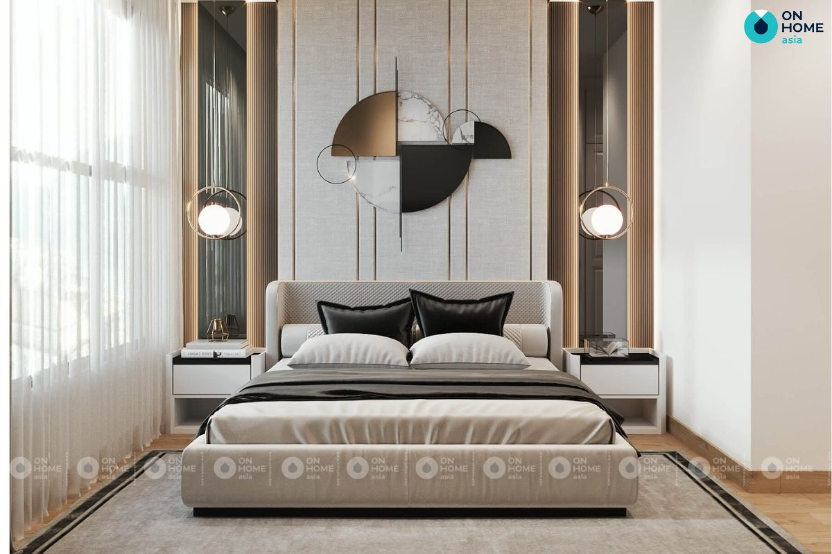 Mẫu phòng ngủ 6m2 của chị Kim Thoa tại chung cư Compass One