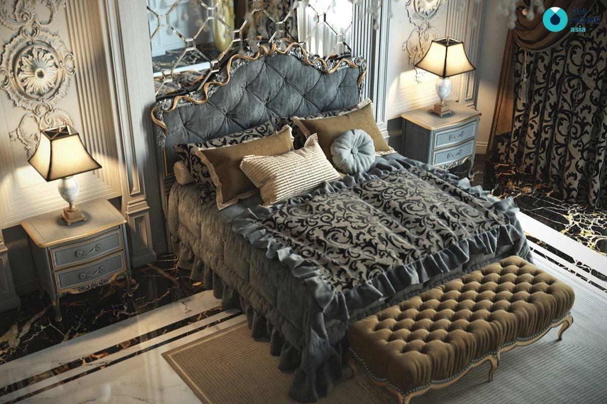 Nội thất phòng ngủ được thiết kế với phong cách cổ điển