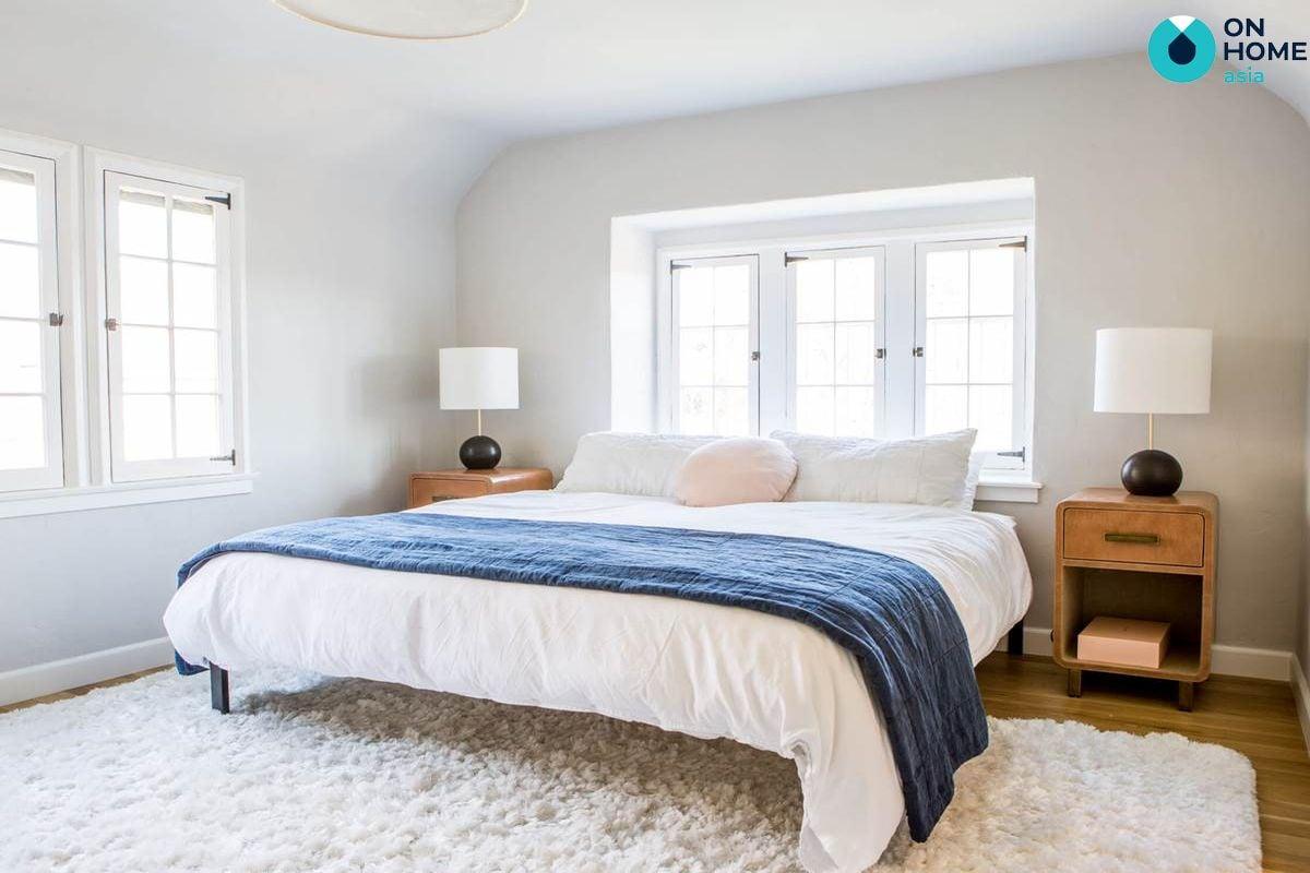 Phòng ngủ chiếu ánh sáng tự nhiên