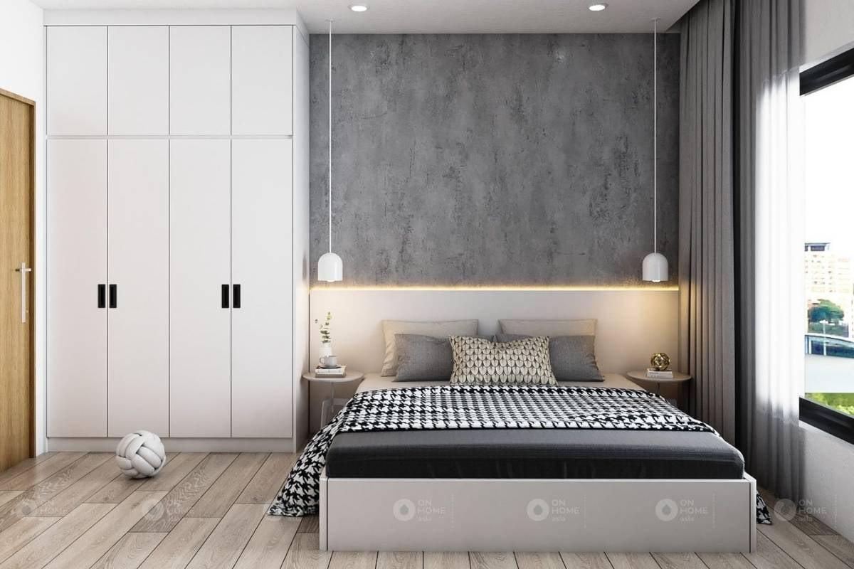 Nội thất phòng ngủ master của căn hộ Sora Gardens II 3 phòng ngủ