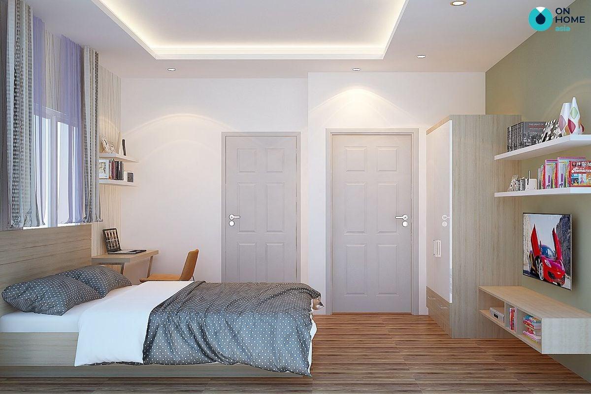 Nội thất phòng ngủ dự án nhà phố Ecolakes Mỹ Phước
