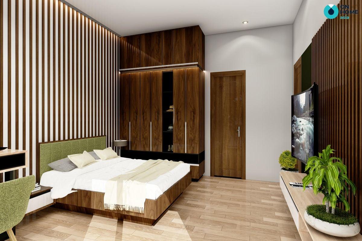 Phòng ngủ dự  án nhà phố Ecolakes