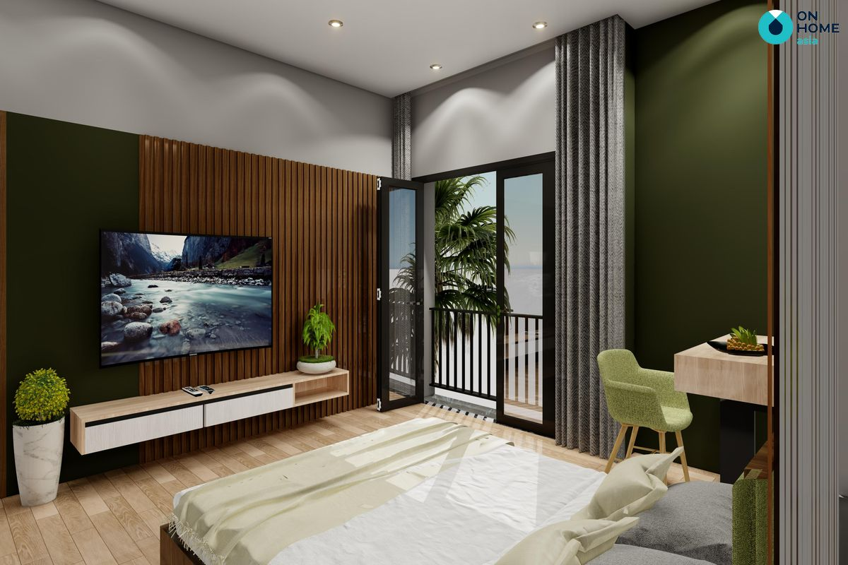 Phòng ngủ nhà phố Ecolakes Mỹ Phước