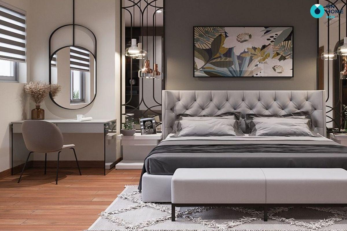 Không gian nội thất phòng ngủ tại nhà phố Sun Casa