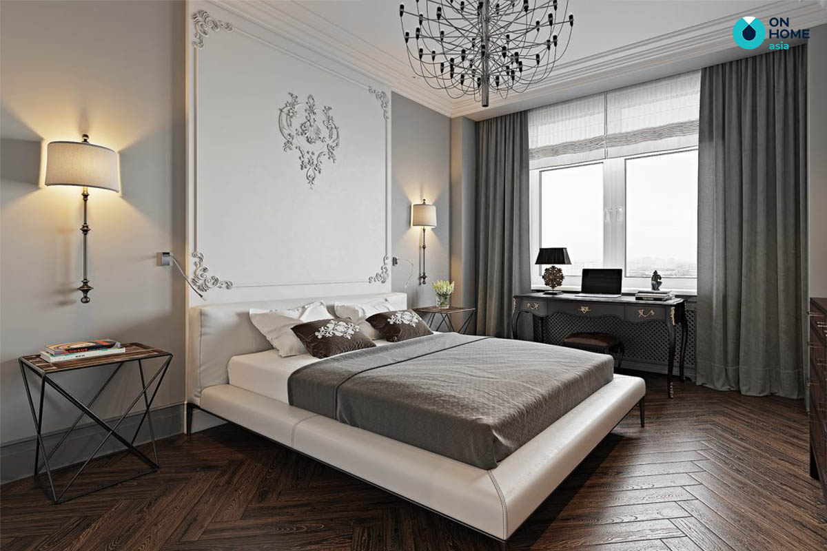 Phòng ngủ tân cổ điển được tinh giản