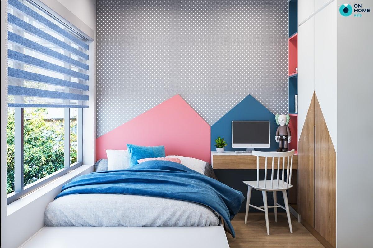 Phòng ngủ nhỏ thiết kế sinh động