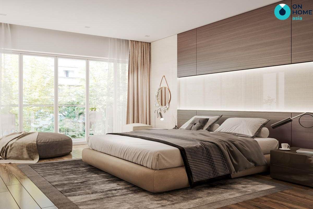Phòng ngủ tối giản cho giường ngủ