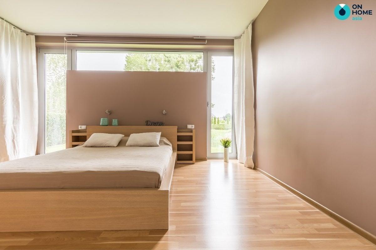 Phòng ngủ 20m2 phong cách tối giản