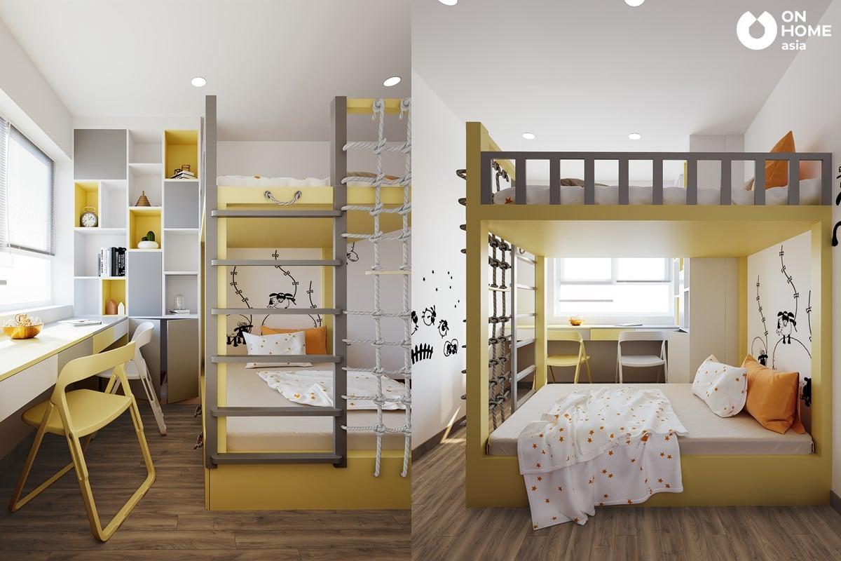 Nội khách phòng ngủ trẻ em căn hộ The View