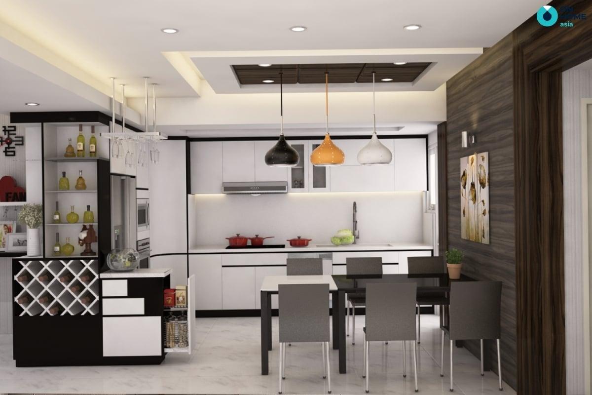 thiết kế bếp theo phong thủy sẽ mang lại may mắn cho ngôi nhà