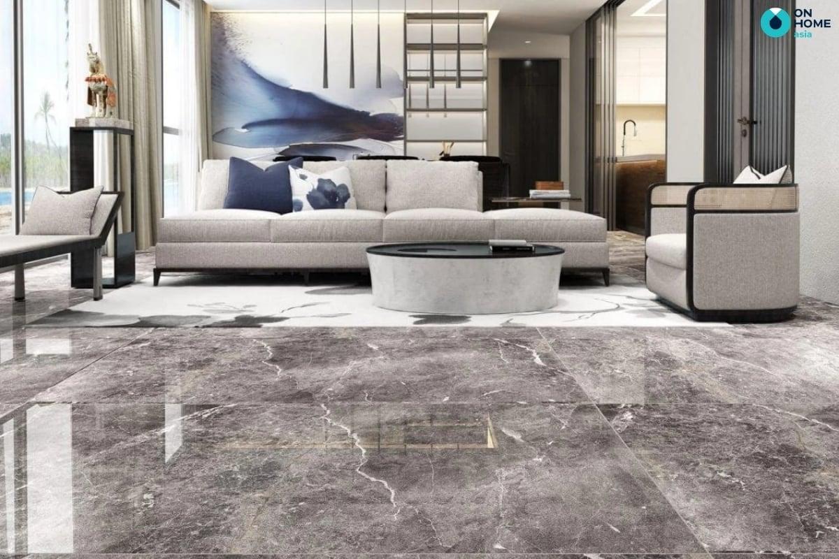 Sử dụng gạch lát sàn dễ dàng vệ sinh