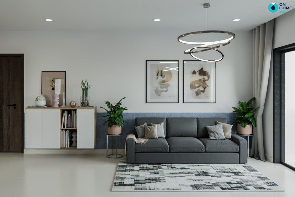 Nội thất căn hộ Compass One theo phong cách hiện đại