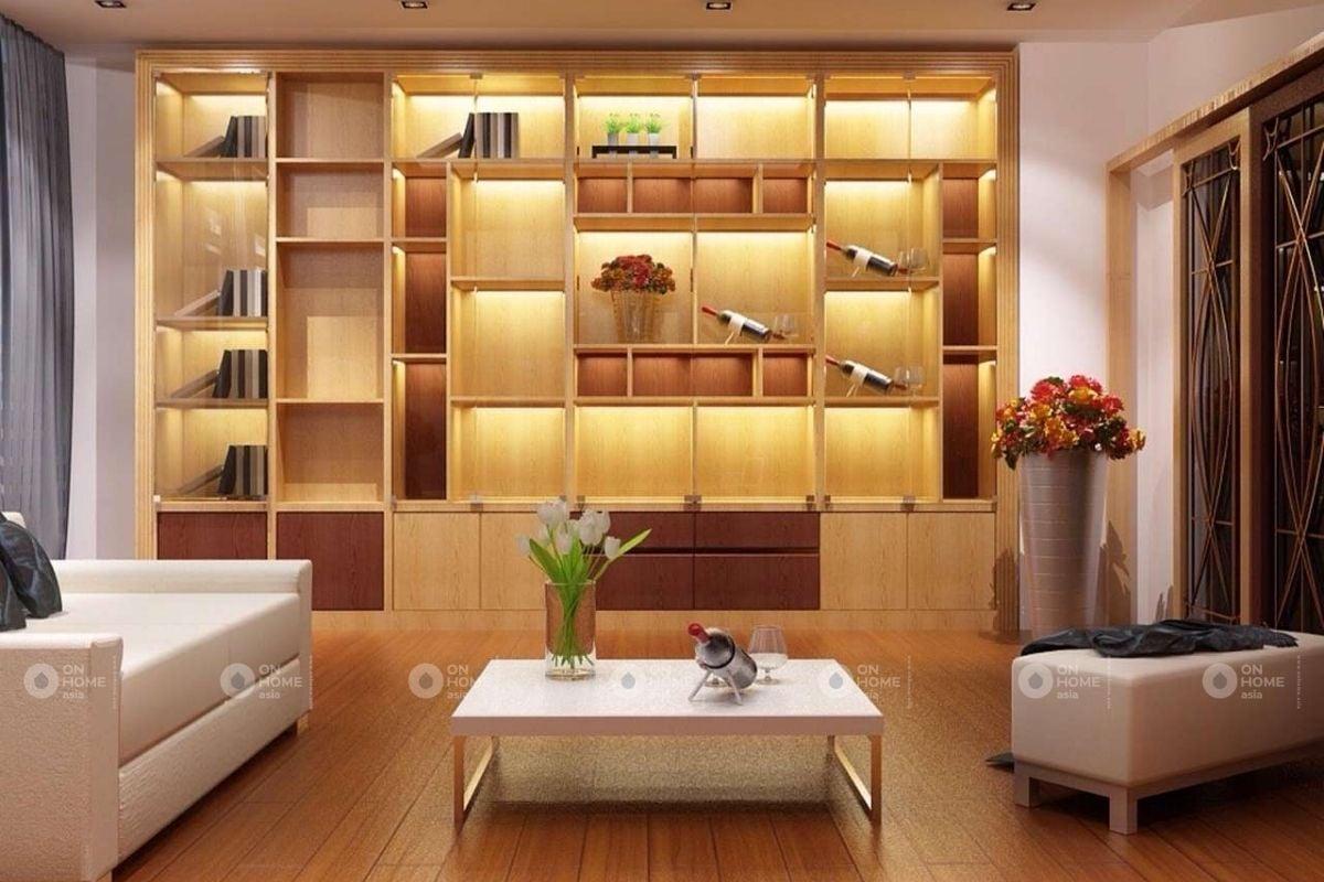 Tủ tường trang trí phòng khách