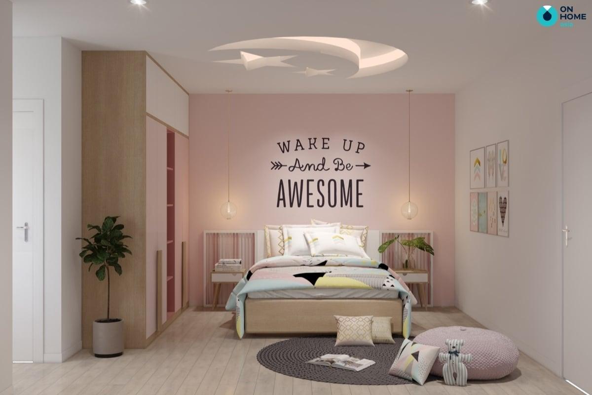 thảm phòng ngủ bé gái