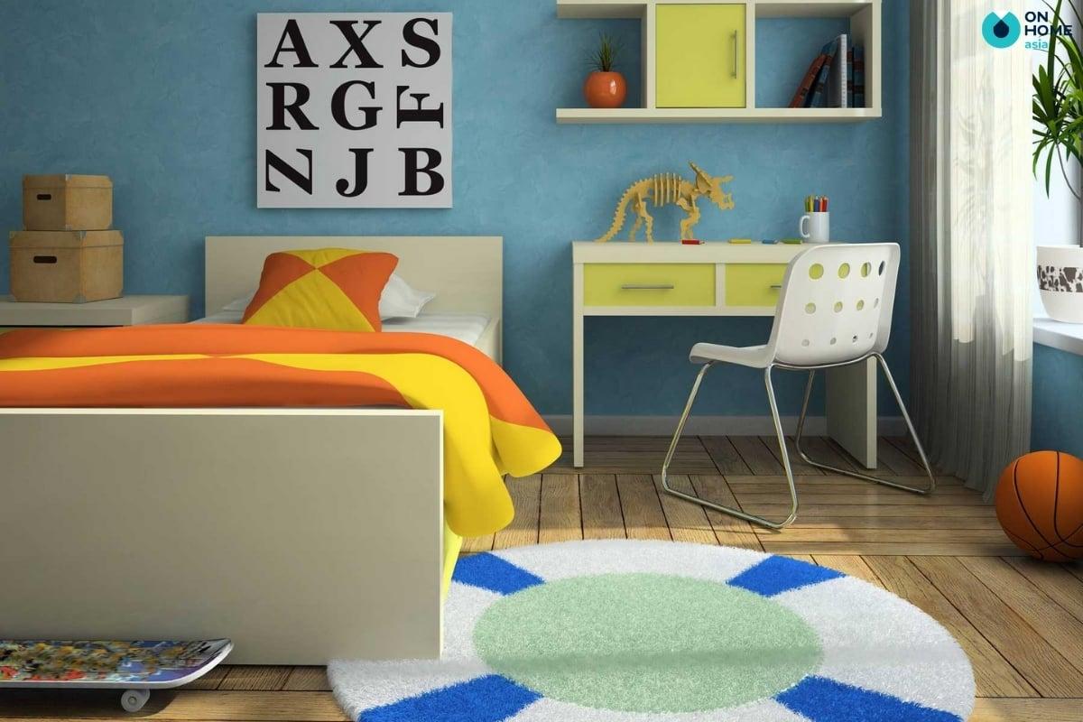 thảm trải sàn phòng ngủ bé trai