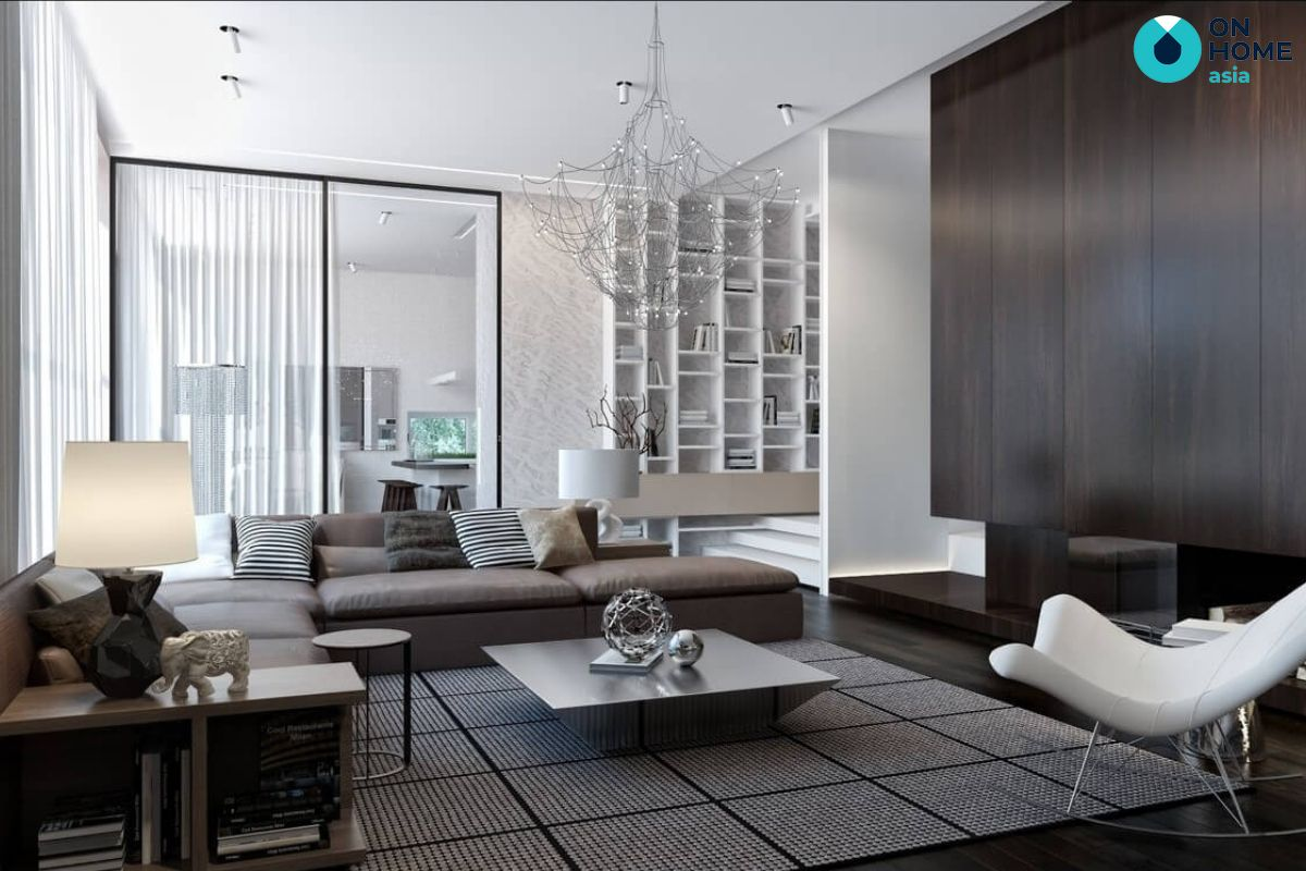 Thi công nội thất nhà phố phong cách hiện đại