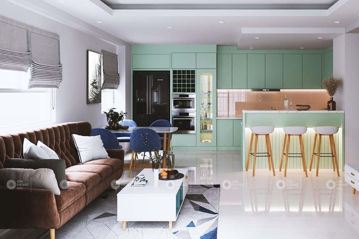 Thiết kế nội thất phòng khách chung cư The View