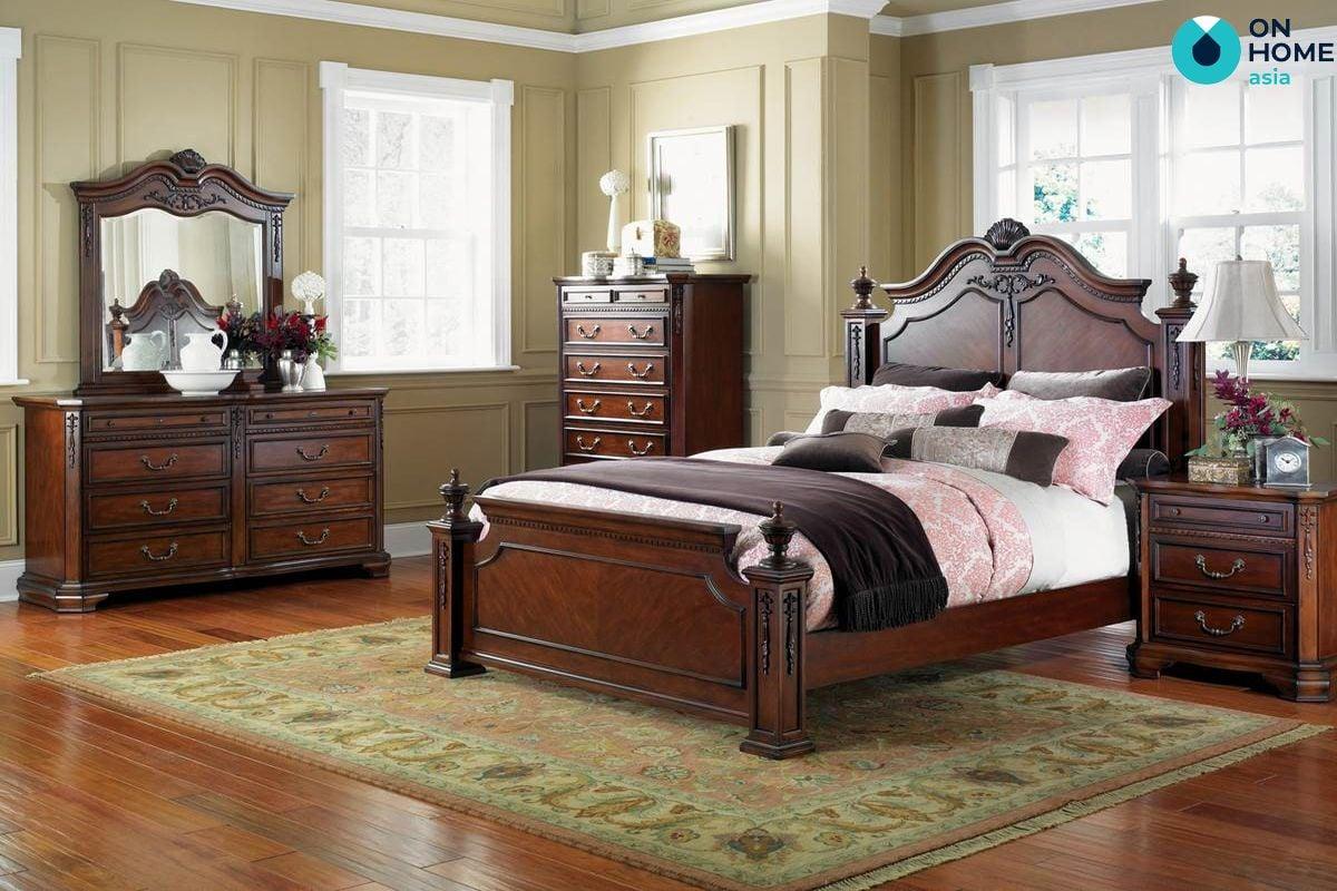 Giường ngủ bằng gổ tự nhiên