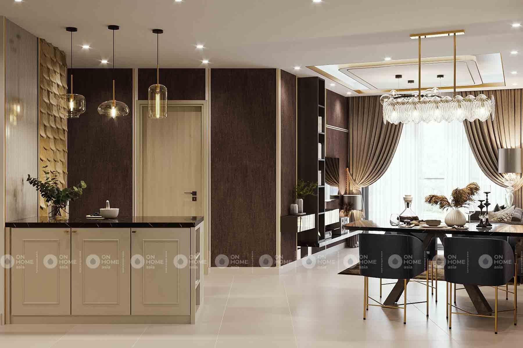 thiết kế nhà bếp compass one phong cách Luxury