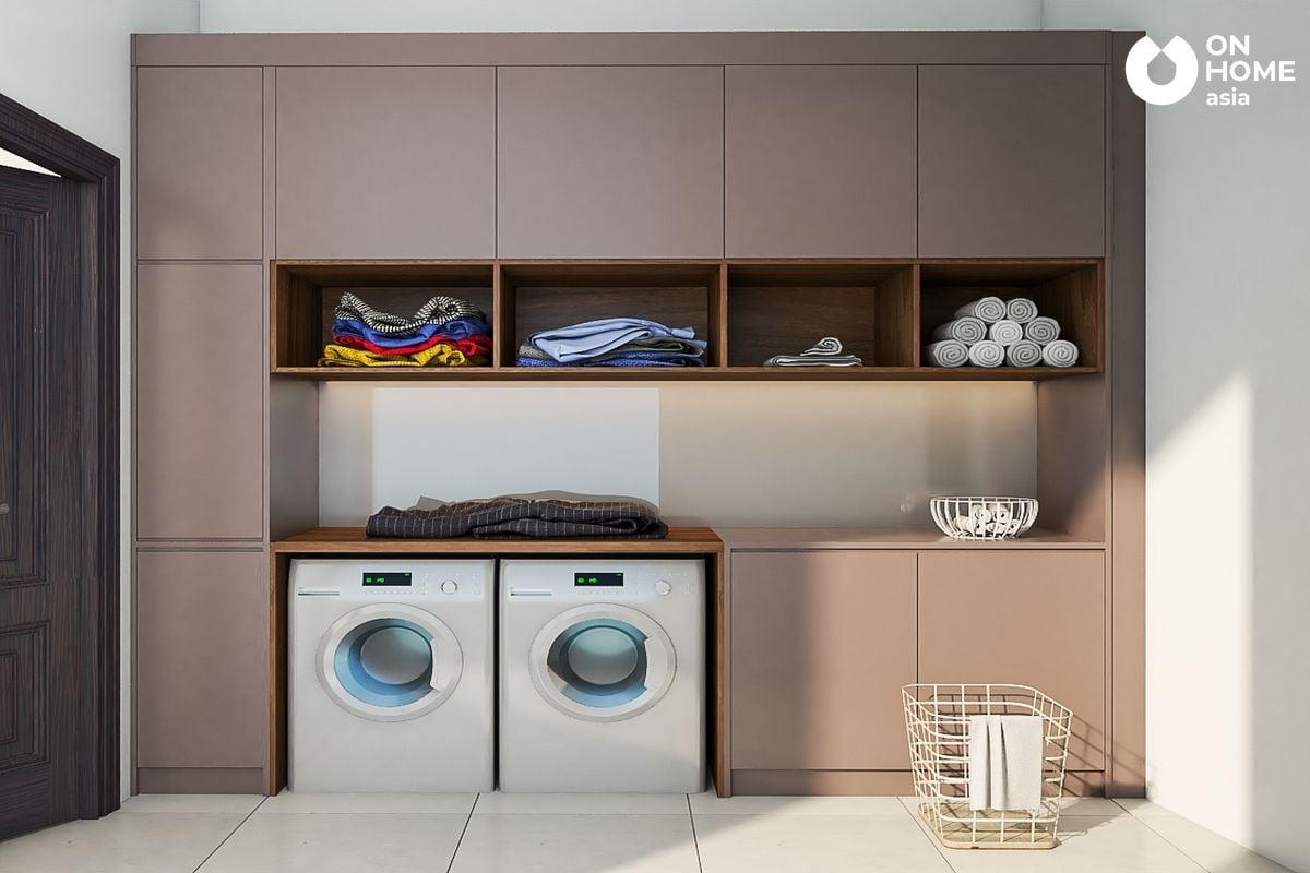 Thiết kê nội thất phòng giặt của anh Trung Tuyến