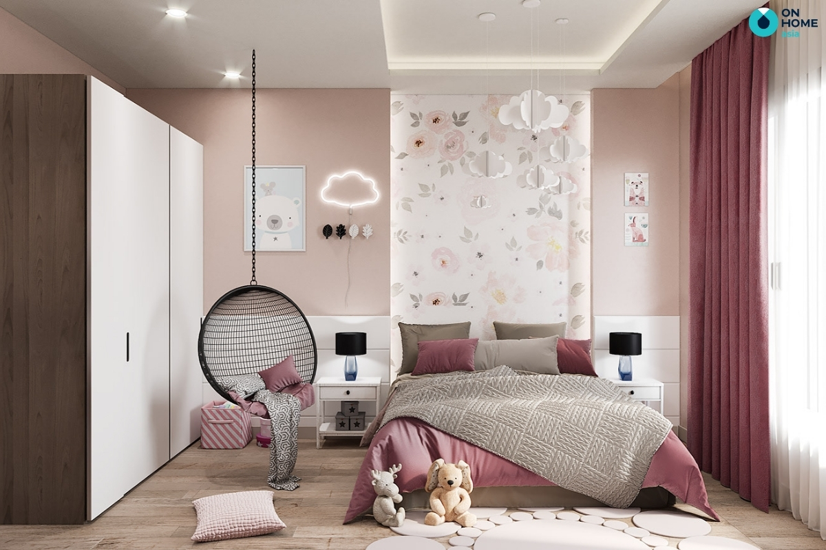 phòng ngủ bé gái 10 tuổi
